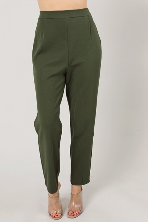 Straight Stretch Trouser, Olive