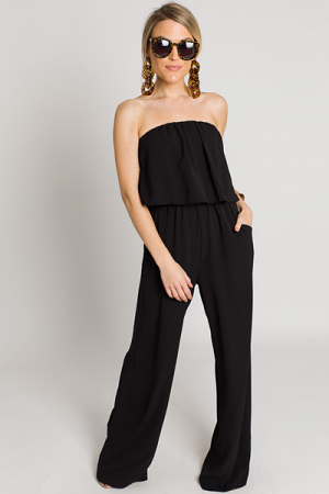 Jump on It Jumpsuit, Black
