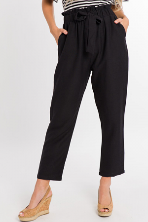 Paper Bag Pants, Black