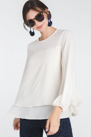 Bishop Blouse, Ivory