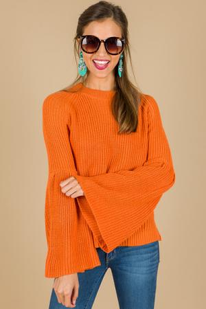 Betty Bell Sleeve Sweater, Oran