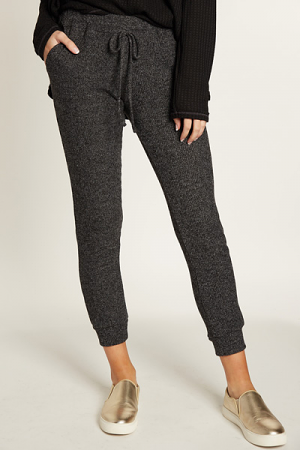 Ribbed Joggers, Charcoal