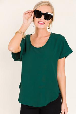 Naomi Dolman Blouse, Green