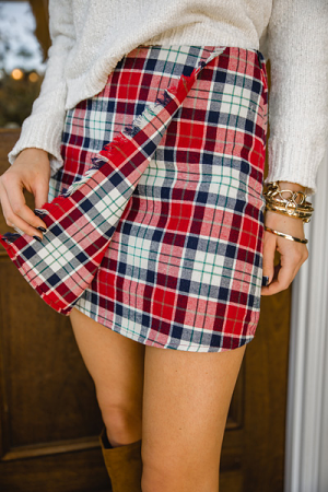 Tree Farm Plaid Skirt
