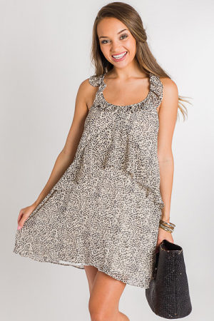 Spotted Mini Ruffle Dress