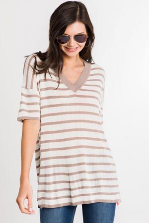 Mocha Stripes Tunic