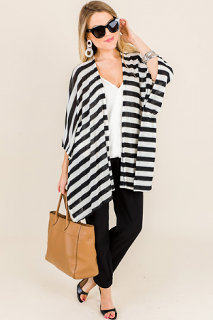 Camina Cardigan, Black Stripes