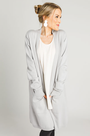 Timeless Cardigan, Grey