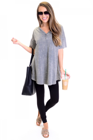 Charcoal Dyed Dress