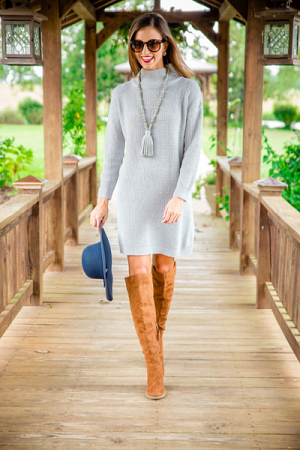 Sparrow Sweater Dress, Grey
