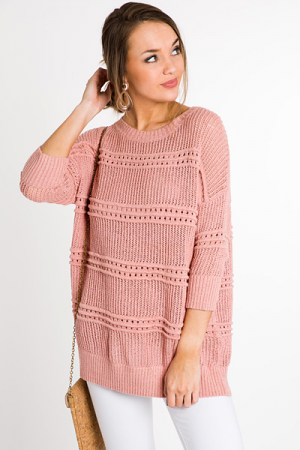 Sweet Knit Sweater, Pink