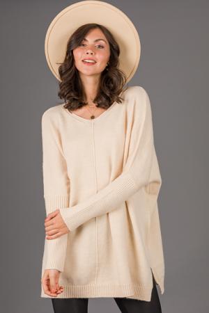 Sandy Oversize Sweater, Khaki