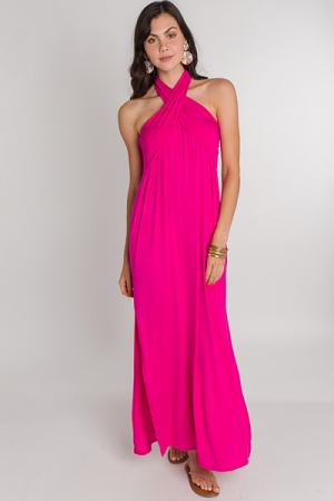 Multi Way Knit Maxi, Fuchsia