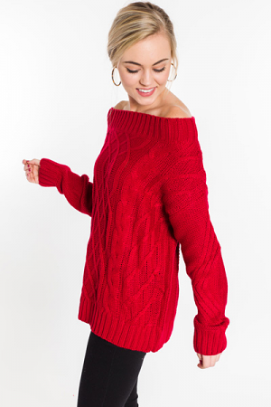 Cheers to You Sweater, Red