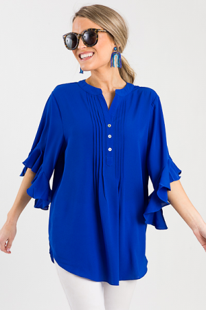 Tucked to a T Blouse, Royal