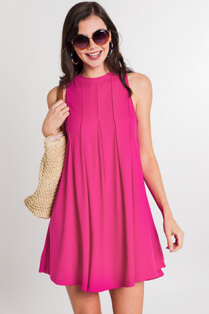 Sweet Pleats Dress, Pink
