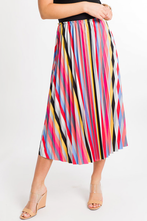 Rainbow Pleats Skirt