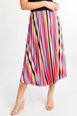 Rainbow Pleats Skirt