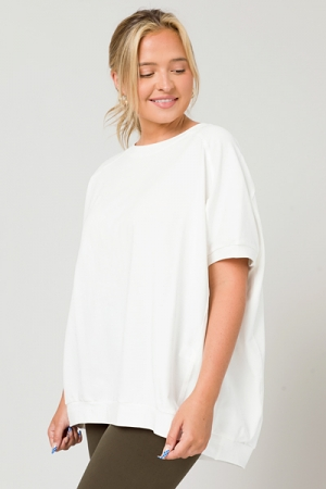 Laid Back Style Top, White