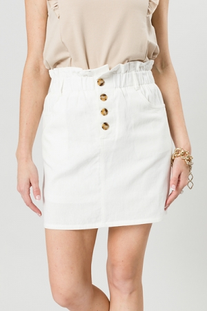 Tortoise Button Skirt