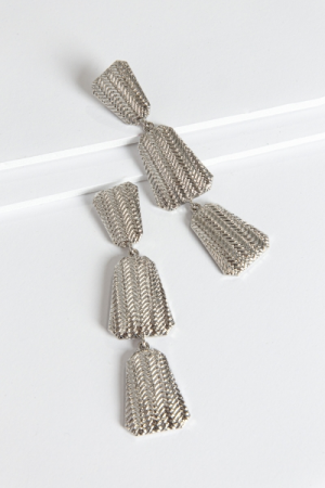 Trio Tribe Earrings, Silver