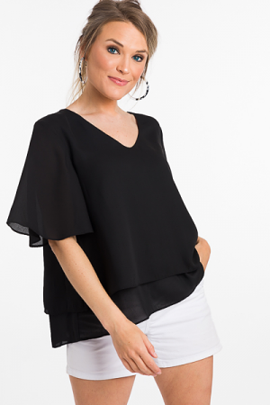 Two Layer Blouse, Black
