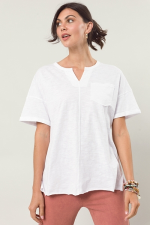 Connor Casual Tee, White