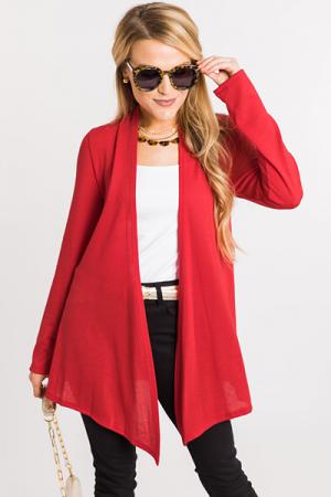 Necessity Cardigan, Red