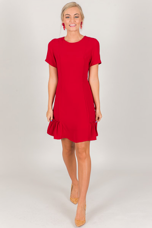 On the Side Dress, Red