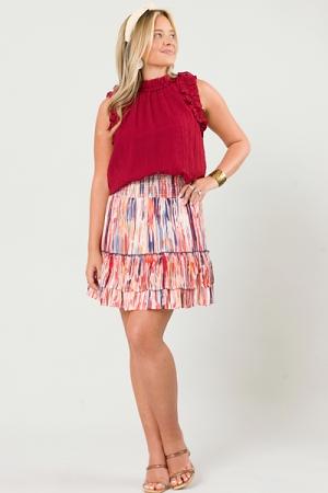 Artistic Stripes Smock Skirt