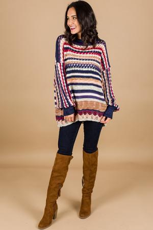 Casey Crochet Sweatshirt