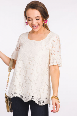 Lover Lace Blouse, Off White