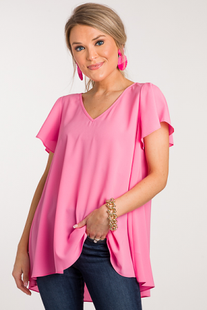 Avril Top, Solid Pink