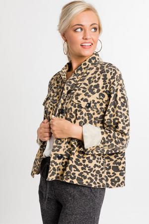 Leopard Life Jean Jacket