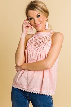 Pink Lady Crochet Halter