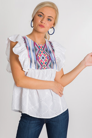 Tribal Eyelet Top
