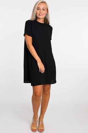 Jules Mock Dress, Black