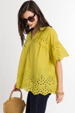 Lime Twist Lace Top