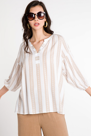 Tribal Taupe Top