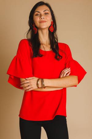 Hannah Blouse, Red