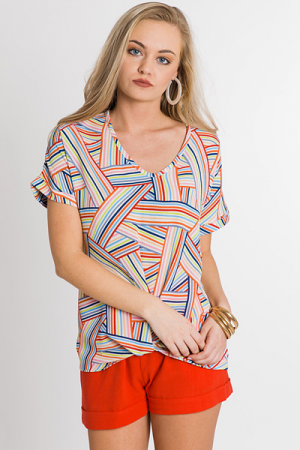 High Art Striped Blouse