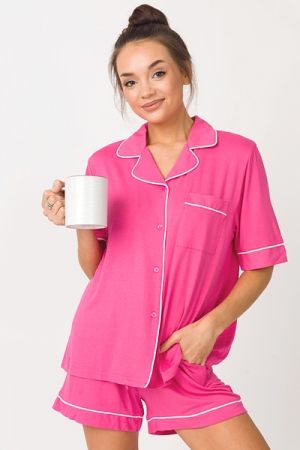 Stretchy Soft PJ Set, Pink