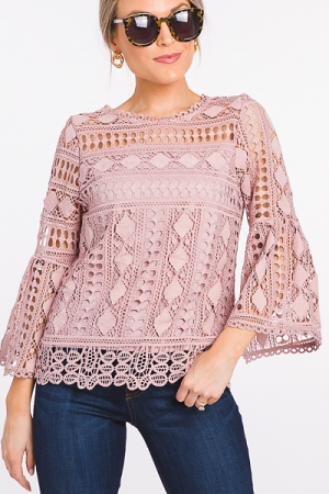 Flower Market Top, Blush