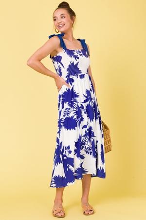 Encore Blue Floral Midi