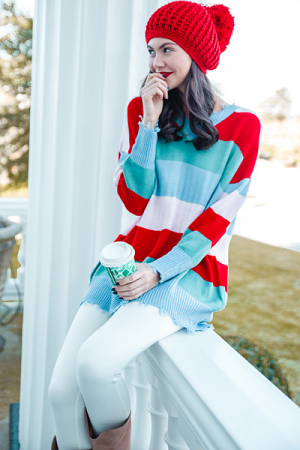 Packs a Punch Stripe Sweater