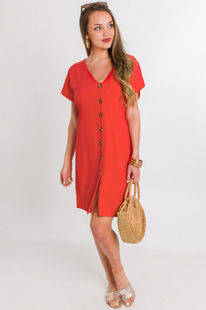 Tomato Talk Button Dress