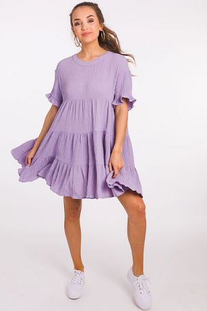 Lilac Lady Tiered Dress