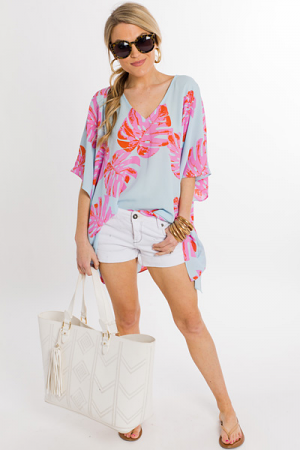 Oversized Palm Tunic