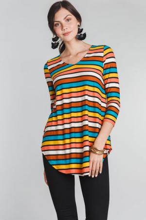 70's Stripes Tunic