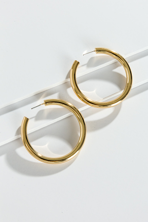 Gold Tube Hoop